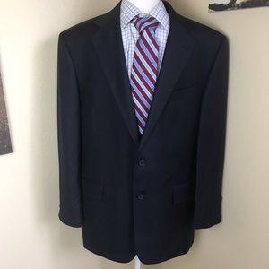 Joseph Abboud navy blue glen check plaid blazer